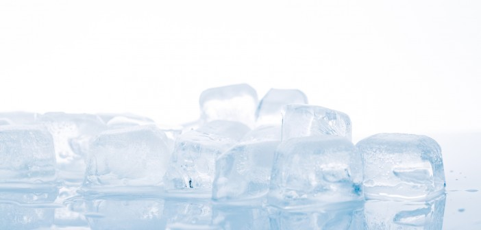 ice cubes on white background. studio shot