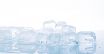 ice cubes on white background. studio shot