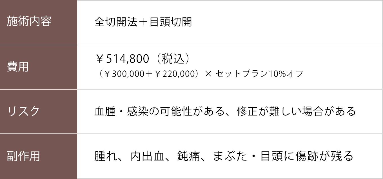 全切開+目頭切開【症例No.737】