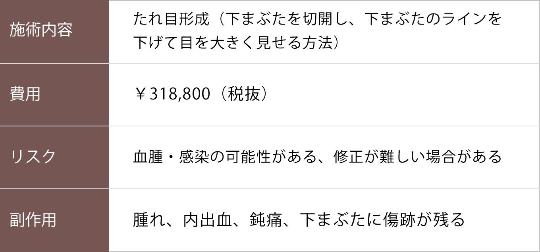 たれ目形成【症例No.211】