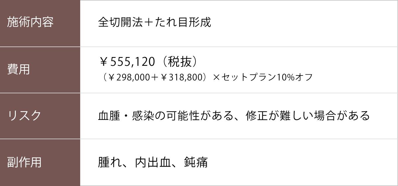 全切開+たれ目形成【症例No.748】