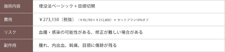 埋没法ベーシック+目頭切開【症例No.730】