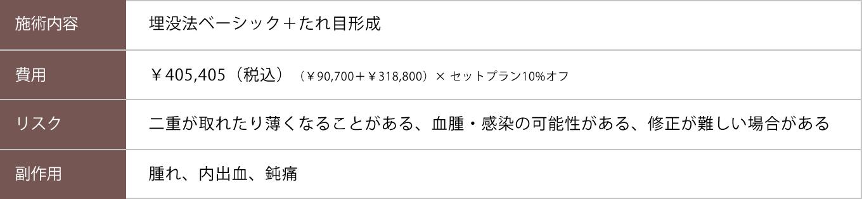 埋没法ベーシック+たれ目形成【症例No.790】