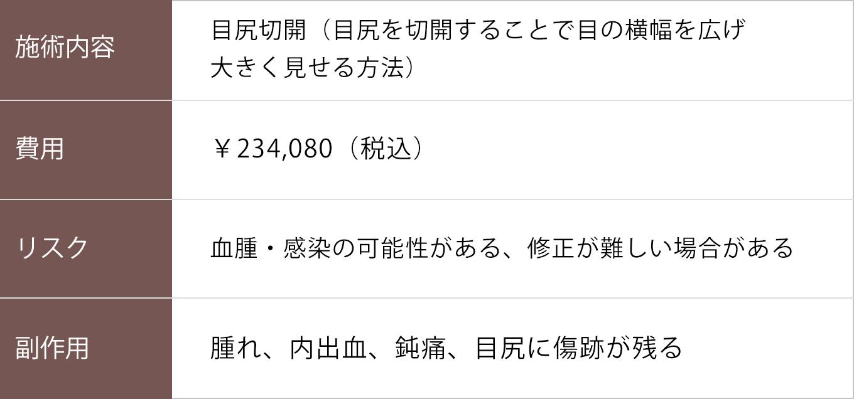 目尻切開【症例No.802】