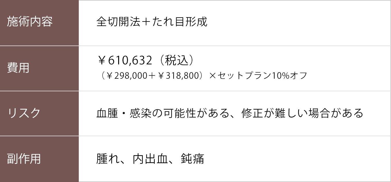全切開法+たれ目形成【症例No.807】