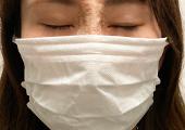 マスクの着用時の見え方 front